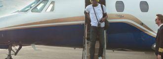 Usain Bolt příletěl do Ostravy,<br /> 21. 5. 2012