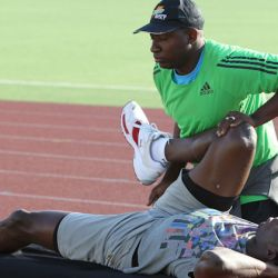 Usain Bolt na tréninku,<br /> 29. 5. 2011