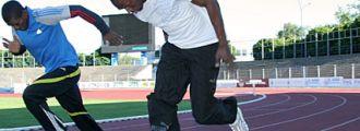 Usain Bolt poprvé trénoval,<br />14. 6. 2009